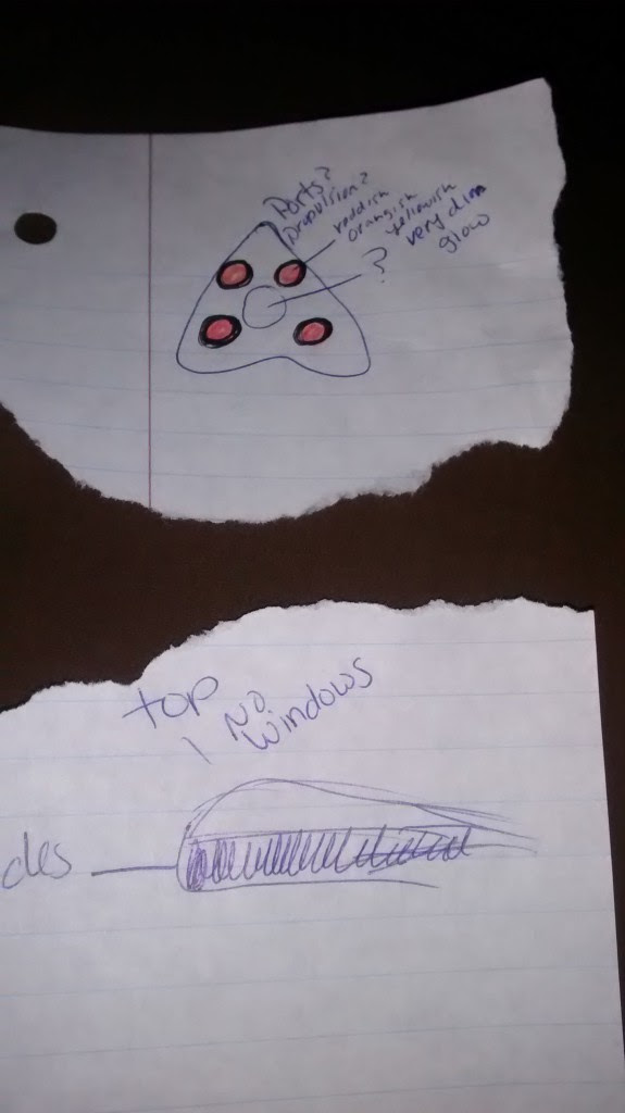 The wife's illustration of the object. (Credit: MUFON)