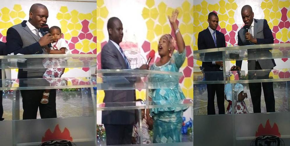"Woman claims her dead child was raised to life by ""God of Bishop Oyedepo"" (Photos/Video)"