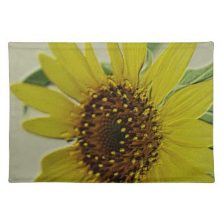 Embossed Sunflower Cloth Place Mat