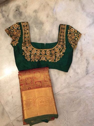 30 Well Suited Bridal Blouse Neck Designs for Wedding Sarees