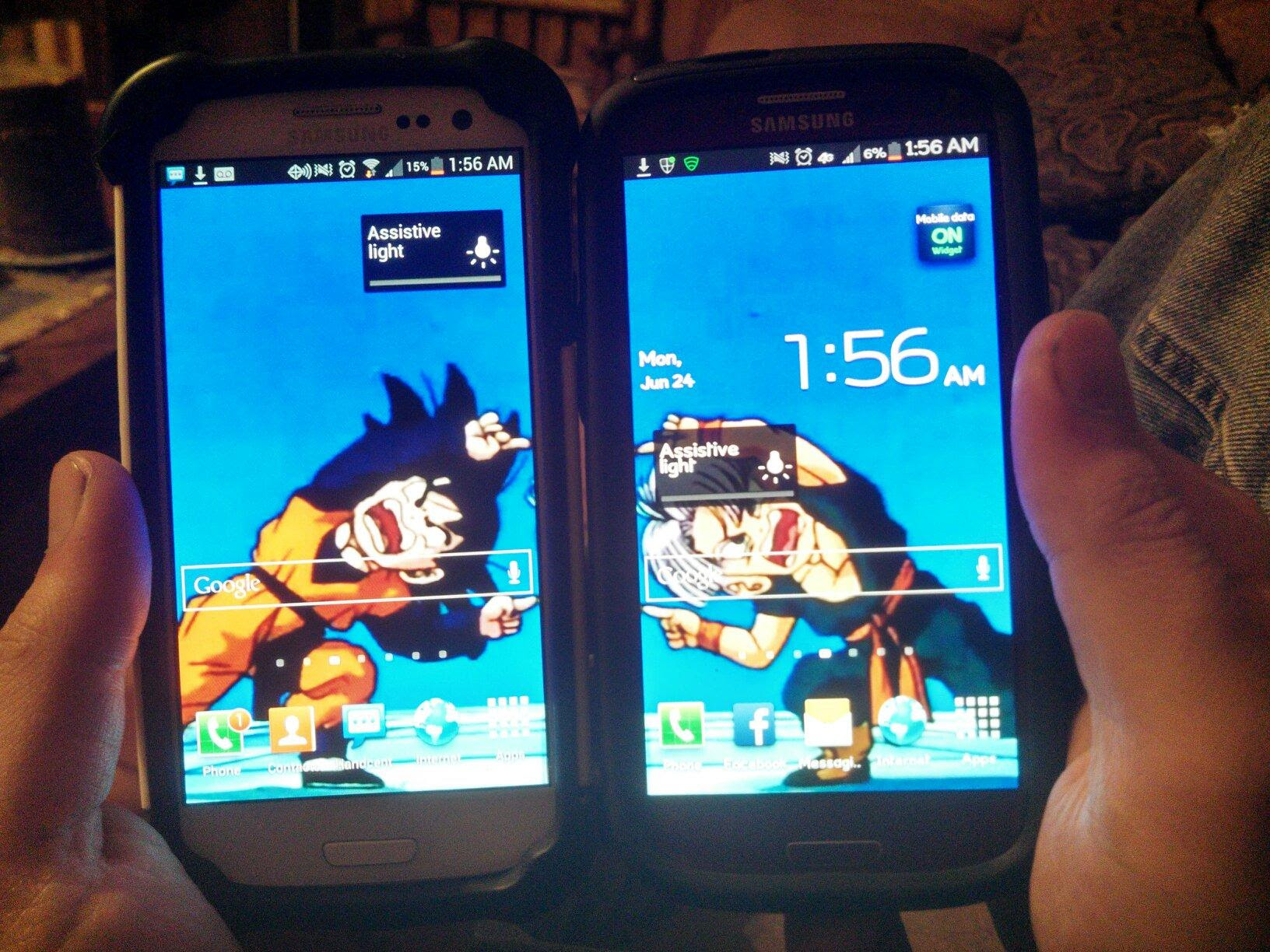 My Friend And I Have Corresponding Wallpapers On Our Phones Dbz