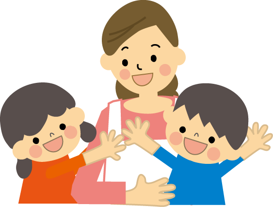 親子保育士子どものイラスト 無料イラストフリー素材