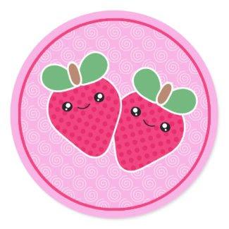 Yummy Treats Strawberry Kawaii Stickers sticker