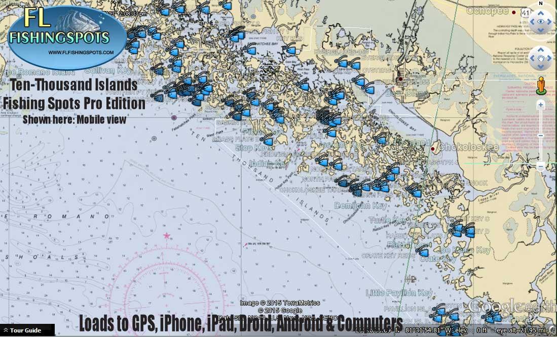 Ten Thousand Islands Fishing Map Florida Fishing Maps