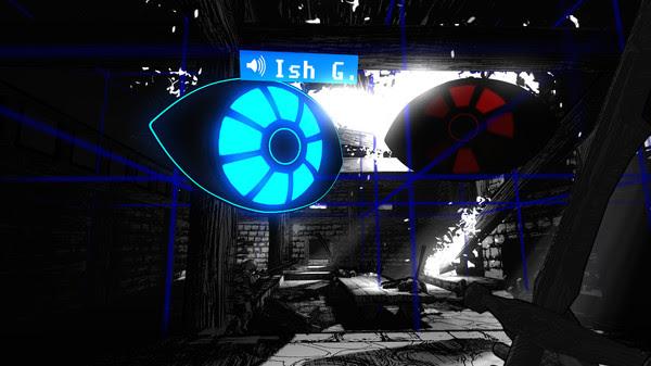 Blue computer eye