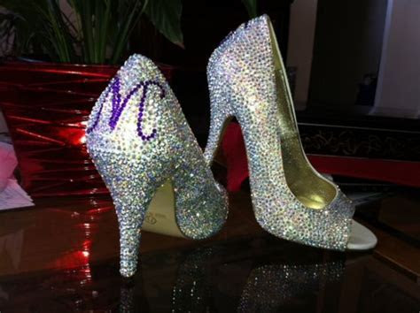 DIY Crystal Wedding Shoes   Weddingbee Photo Gallery