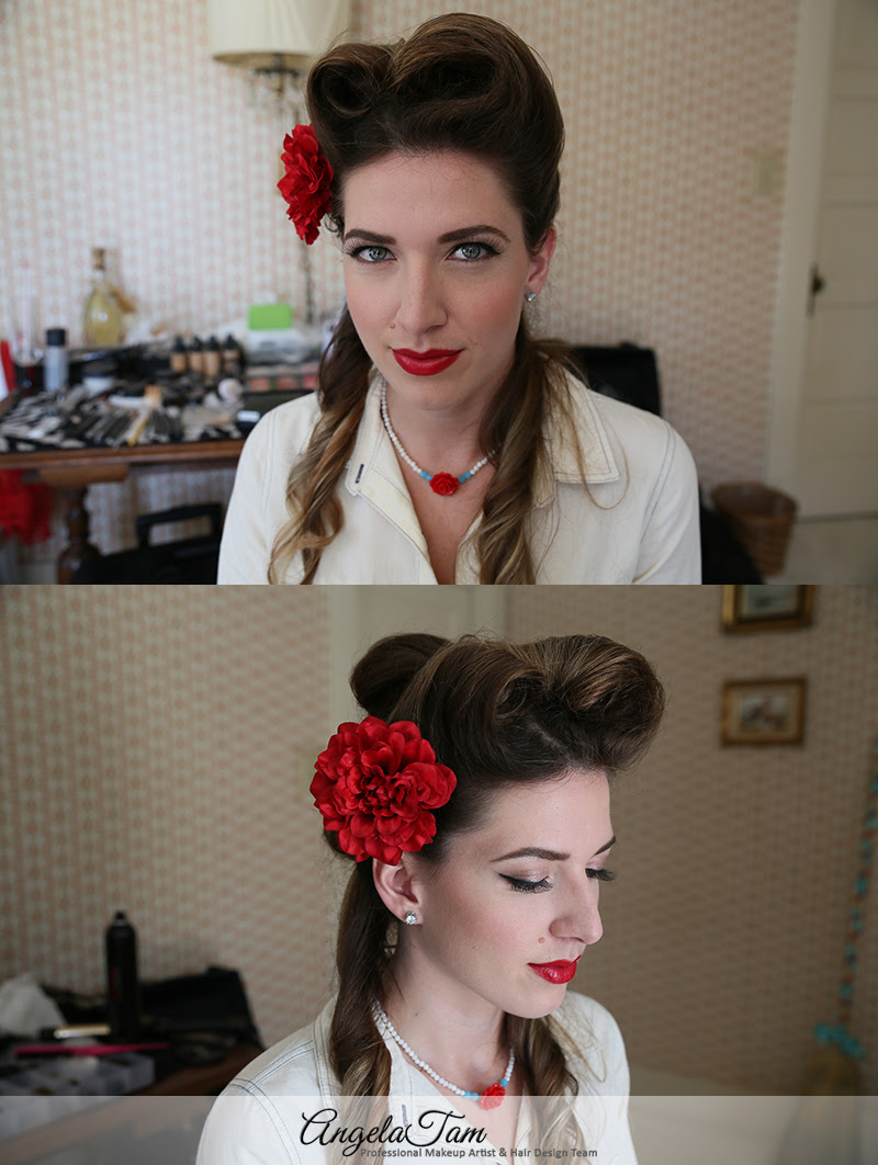 Los Angeles Victory Rolls Hair Style Pinup Girls Rockabilly Makeup