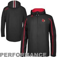 adidas Louisville Cardinals Sideline Performance Lightweight Full Zip Hooded Jacket - Black