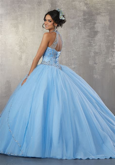 Princess Tulle Ballgown with Beaded Trim and Beaded Bodice