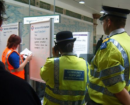 Travel updates at Hammersmith tube station