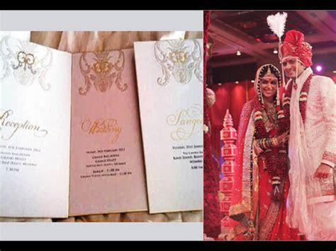 Pictures: Leaked Wedding Cards Of Shahid, Aishwarya