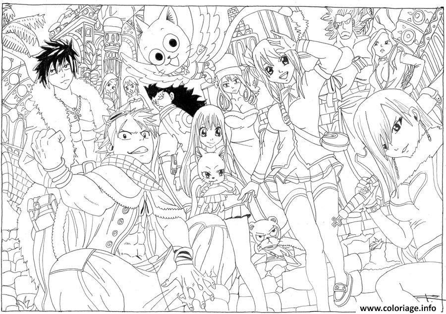 Coloriage Fairy Tail à Imprimer