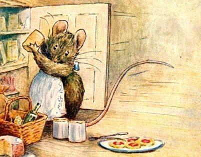 Beatrix Potter. Cupboard doors count too.