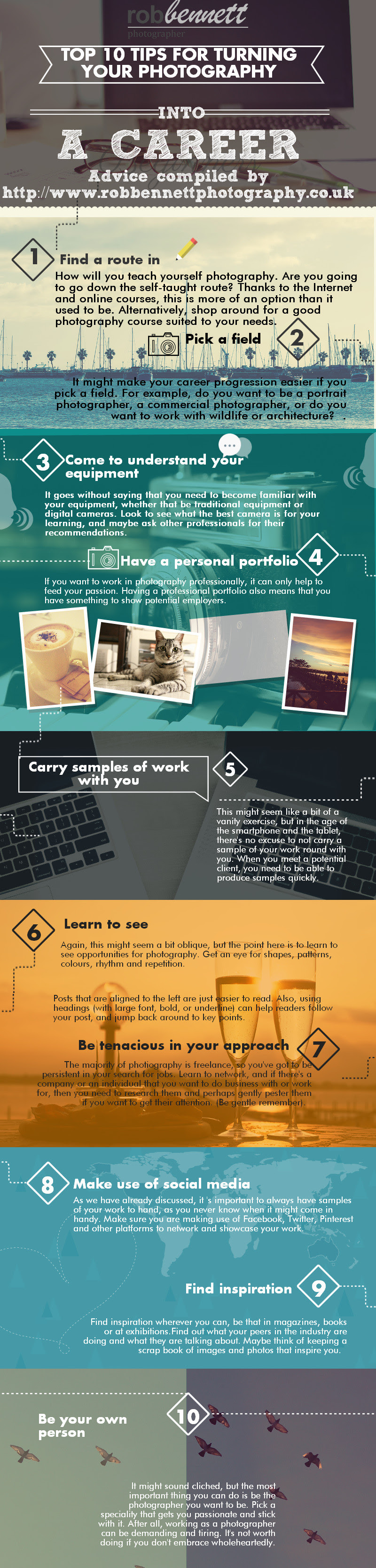 Infographic: Top 10 Tips for Turning Photography into a Career #infographic