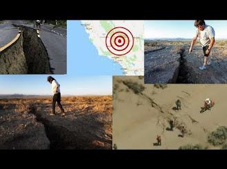 Aparecen enormes grietas en el desierto de California