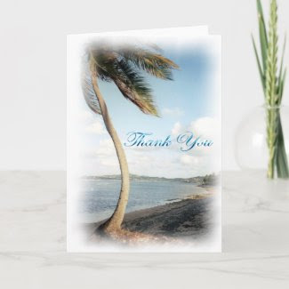 Tropical Thank You Card