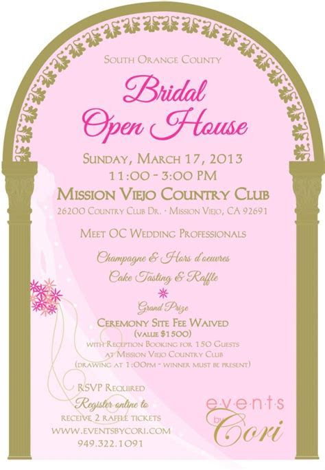 South Orange County Bridal Open House