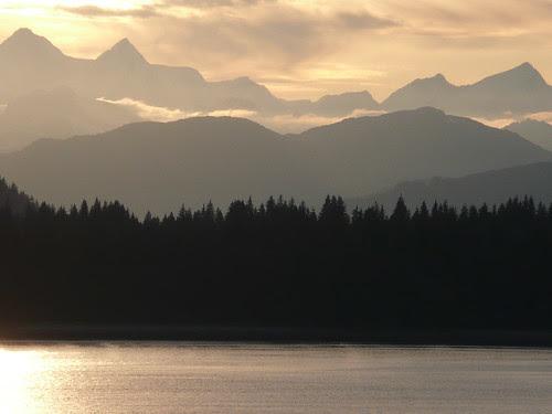 Sunset on Glacier Bay
