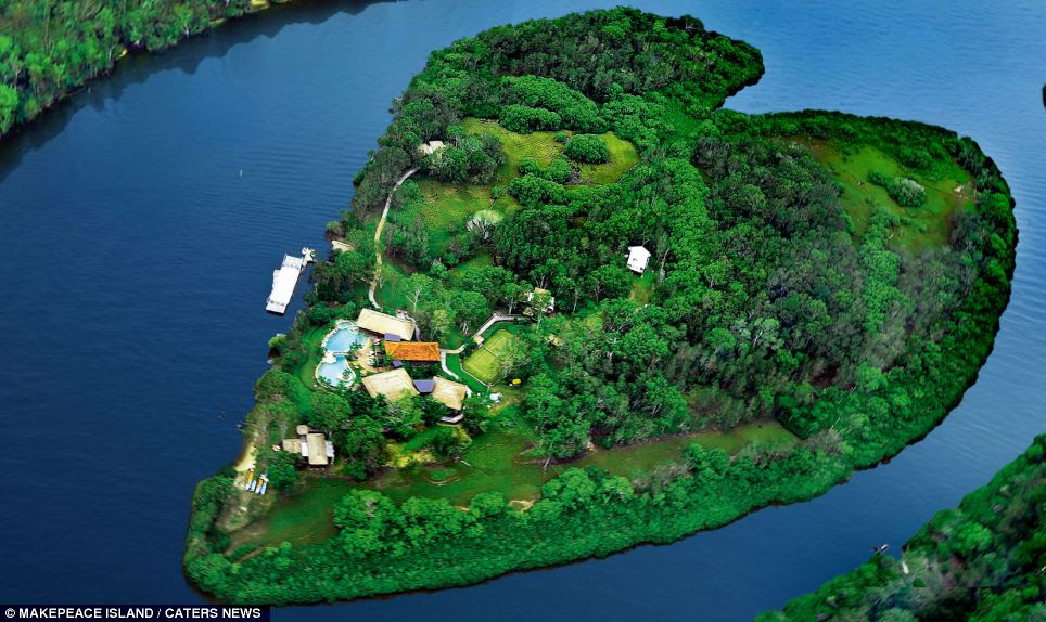 Green and pleasant land: Makepeace Island off Australia's Sunshine Coast is the perfect retreat for any romantic couple