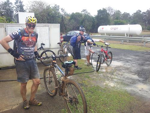 Hosing off the Mud