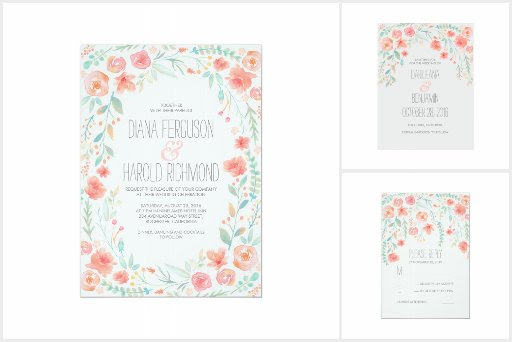 Pastel Flowers Wedding Collection