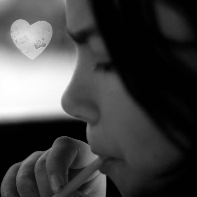 single heart bokeh