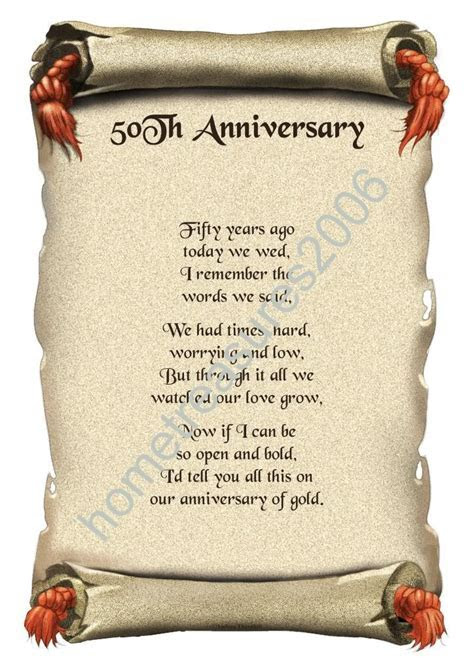50th Wedding Anniversary Poems Pictures to Pin on