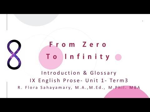 9th English From Zero To Infinity Kalvi TV