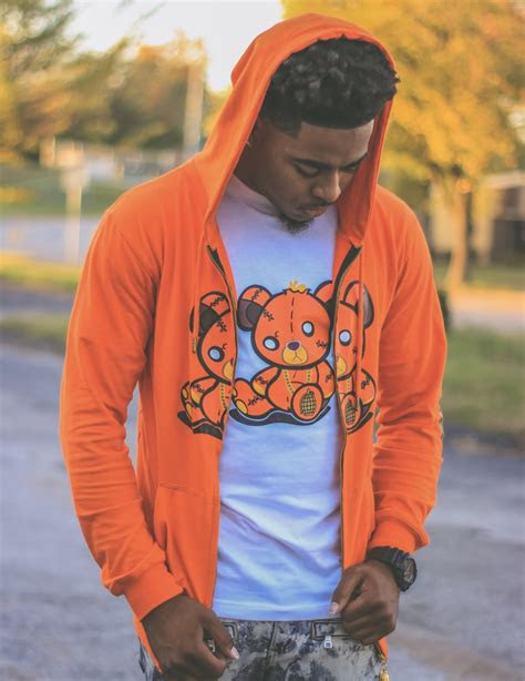 mens orange hoodie war ready clothing
