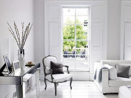 Nada se iguala con la pureza y paz que transmite una habitación completamente blanca.