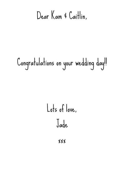 wedding congratulations typography card by lovely jubbly