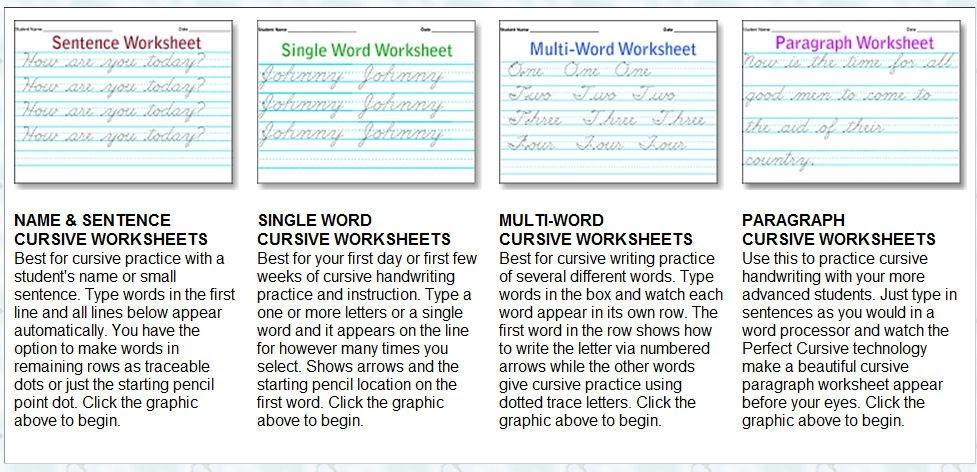 Editable Cursive Worksheets