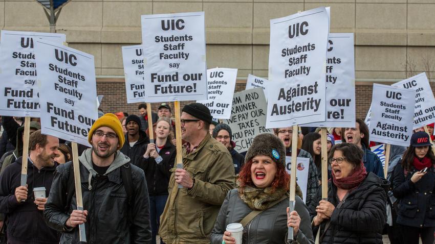 UIC rally