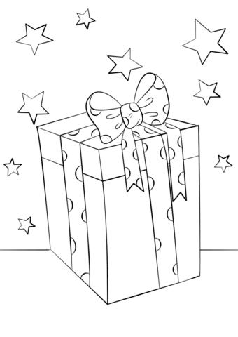 Dibujo De Caja De Regalo De Navidad Para Colorear Dibujos Para