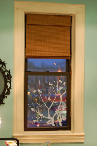 Hand Painted Window Treatment
