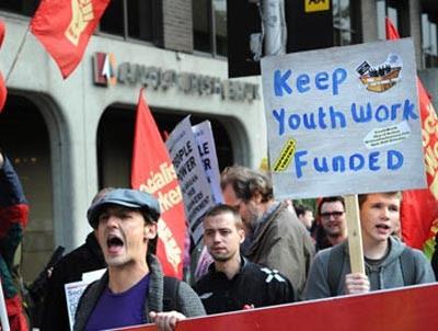Manifestação em Dublin