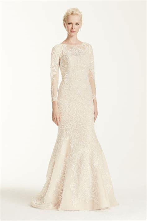 Oleg Cassini Long Sleeve Lace Trumpet Wedding Dress Style