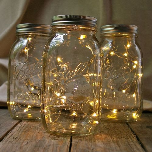 one strand of lights and fill jar. The end. Simple. Modern. Cheap, 17 Mason  Jar Gifts for Christmas, jar lights, Christmas lights in a mason jar |  Holidays ... - Christmas Light Mason Jar Christmas Ideas