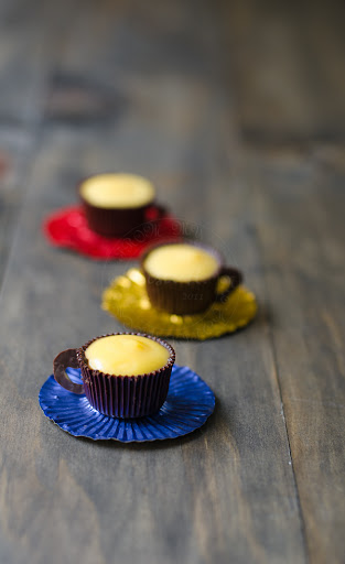 Lemon Curd in Dainty Chocolate Cups