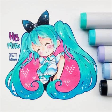 happy birthday miku kawaii kawaii drawings anime
