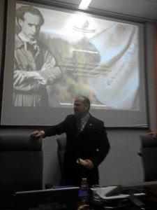Alberto Germán Franco, durante su discurso.