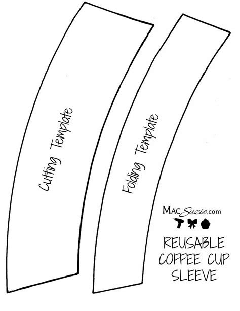 DIY Reusable Coffee Cup Sleeve + Free Printable Template