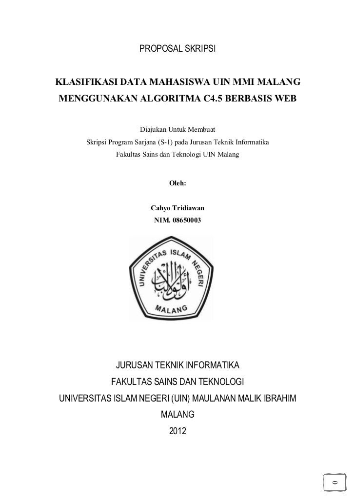 Contoh Proposal Pengajuan Judul Skripsi Pai Kumpulan Berbagai Skripsi
