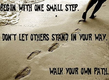 Begin With One Small Step Quote Picture