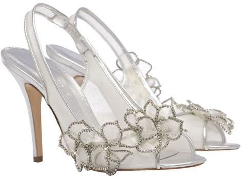 Silver swarovski crystal wedding shoe   Wedding