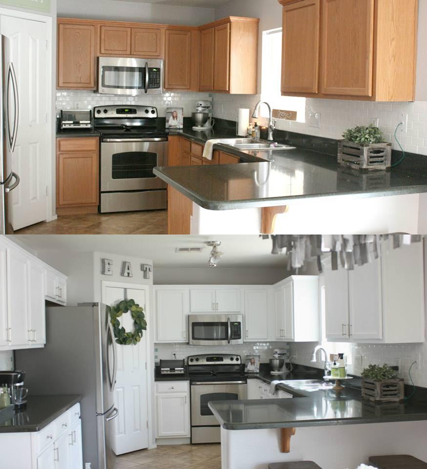 Kitchen in Snow White Milk Paint   General Finishes Design ...