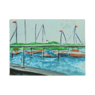 Seascape Art on Doormat