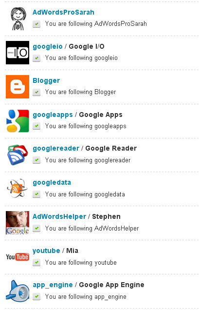 Googler Tweeters