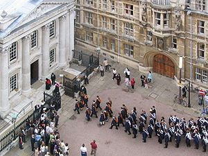 English: Trinity College graduands entering th...