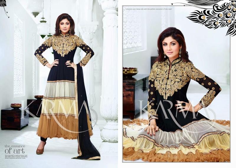 Shilpa-Shetty-Bollywood-Indian-Wear-Ankle-Length-Fancy-Anarkali-Frock-New-Fashion-Dress-4